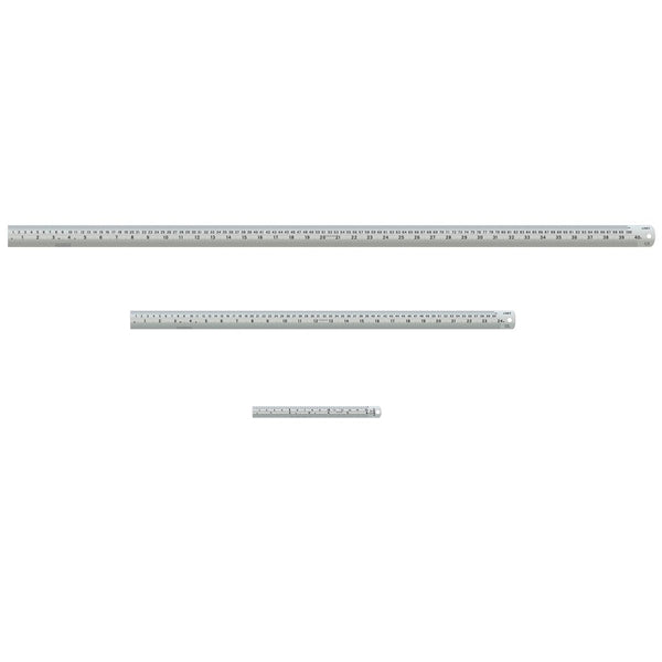 Linex Ruler Stainless Steel Imperial and Metric with Conversion Table (150mm, 600mm or 1000mm) Silver