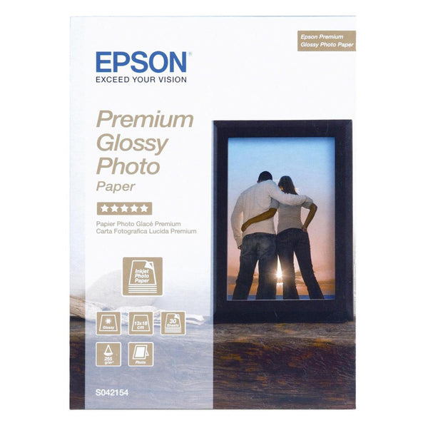 Epson Photo Paper Premium Glossy 255gsm 130x180mm [30 Sheets]