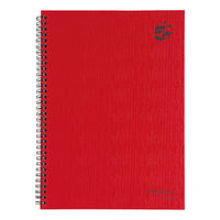 5 Star Office Manuscript Notebook Wirebound 70gsm Ruled 160pp A4 Or A5 Red [Pack 5]