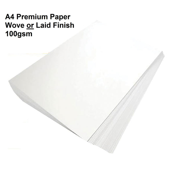 5 Star Elite Premium Business Paper Wove OR Laid Finish Ream-Wrapped 100gsm A4 High White [500 Sheets]