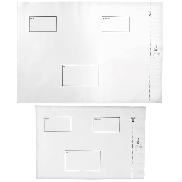 5 Star Elite Envelopes (DX) ExtraStrong Waterproof Polythene Peel & Seal Opaque Various Sizes Available [Pack 100]