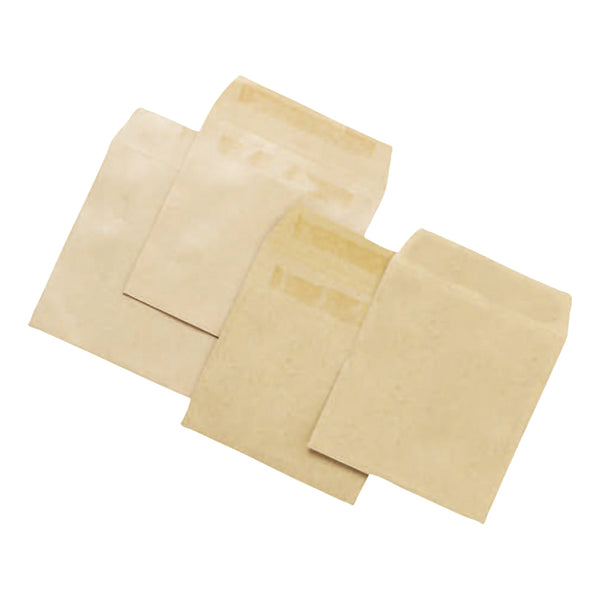 5 Star Office Envelopes FSC Wage Self Seal 80gsm 108x102mm Manilla [Pack 1000]