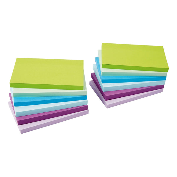 5 Star Office Re-Move Notes Repositionable Pastel Pad of 100 Sheets Various Sizes and Colours [Pack 12]