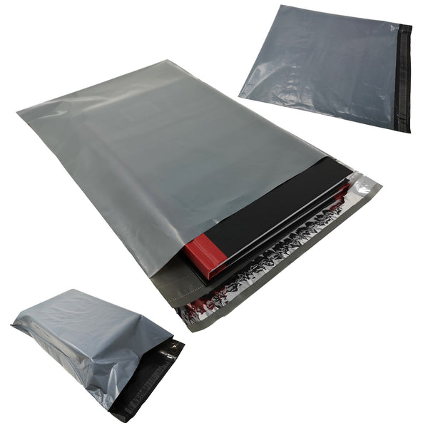 5 Star Recycled Mailing Bag Peel & Seal Closure Grey Various Sizes [Pack 100]