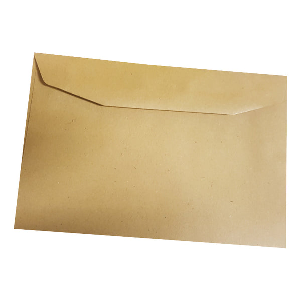 5 Star Office Envelopes FSC Recycled Wallet Gummed Lightweight 80gsm C6 114x162mm Manilla [Pack 2000]