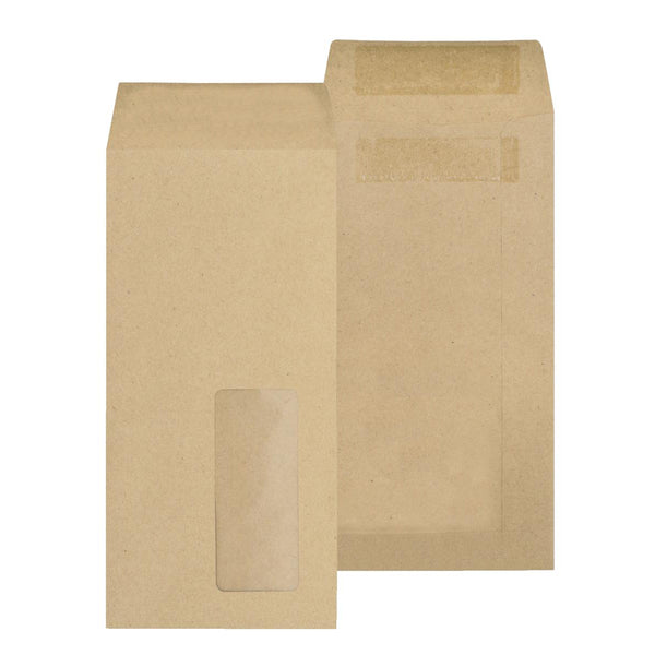 New Guardian Envelopes Pocket Self Seal Window 80gsm DL 220x110mm Manilla [Pack 1000]