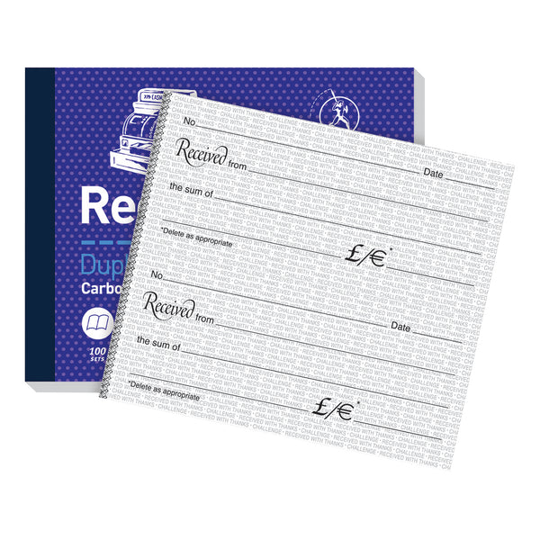 Challenge Duplicate Book Carbon Receipt Book 2 Sets per Page 100 Sets 105x130mm [Pack 5]