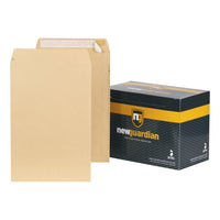 New Guardian Envelopes FSC Pocket Peel & Seal Heavyweight 130gsm 381x254mm Manilla [Pack 125]