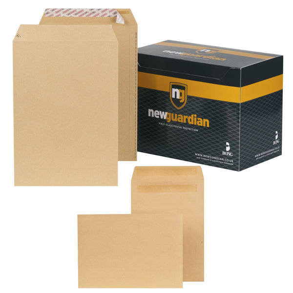 New Guardian Envelopes Pocket Peel & Seal Or Self Seal 90 or 130gsm C4 Manilla [Pack 250]