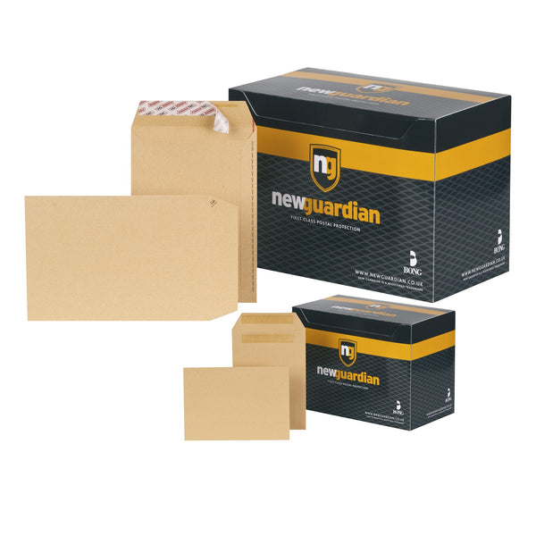 New Guardian Envelopes FSC Pocket Peel & Seal Or Self Seal Heavyweight 130gsm C5 Manilla [Pack 250]