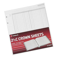 Twinlock 2.5C Crown Double Ledger Sheets 254x228mm [Pack 100]