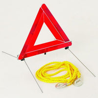 Warning Triangle and Tow Rope (can be purchased separately)