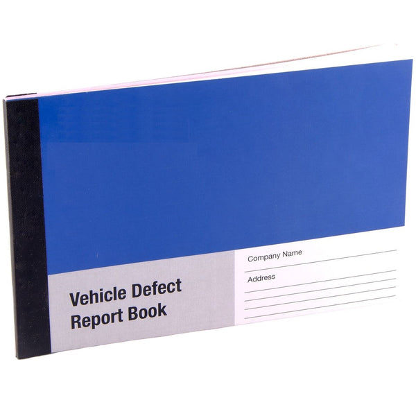 Duplicate Vehicle Defect Report Book - 25 Duplicate Pages