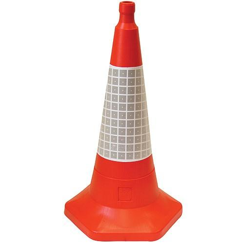 One-Piece Impact Resistant Polythene Traffic Cone with Sand Weighted Base
