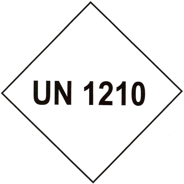 UN 1210 Labels - 100mm x 100mm label (rolls of 250 labels)