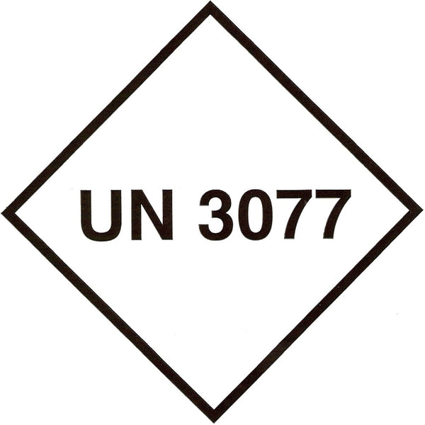 UN 3077 Labels - 100mm x 100mm label (single or rolls of 250)