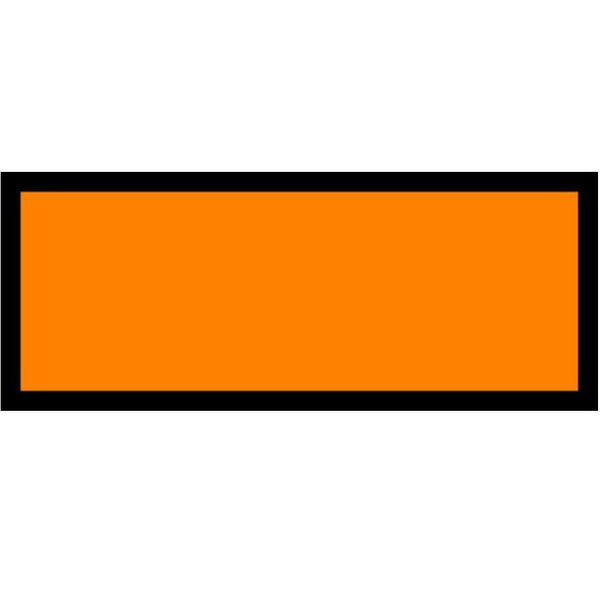 Orange UN Number Panel - Blank - 120mm x 300mm (write on numbers easily.  Single or rolls of 250)