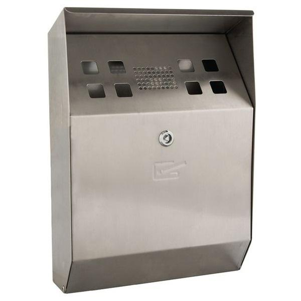 Stainless Steel Wall Mounted Cigarette Bin (Single or in packs of 3 or 5)