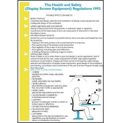 Wallchart and Pocket Guide: Safe Use Of Display Screen Equipment