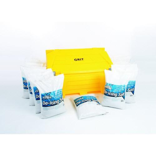 Salt and Grit Bin with 16 Bags of Salt