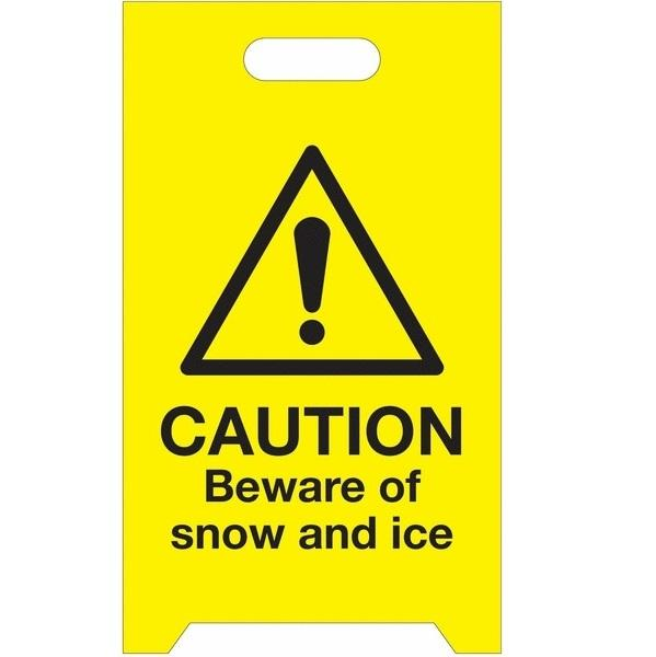 Snow and Ice Warning 'A' Board - Easy to Assemble