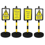 Portable Winter Hazard Warning and Message Signs (various messages available)