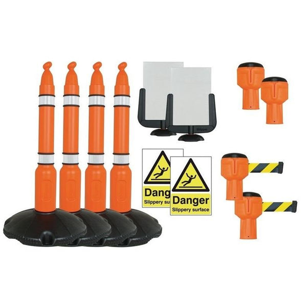 Durable Winter Barrier Sign Kits