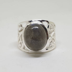 Labradorite Ring on Sterling Silver