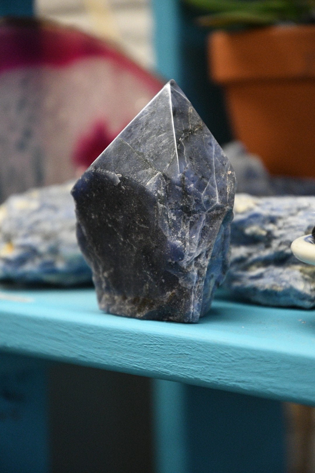Sodalite Standing Raw Point