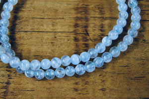 Blue Lace Agate Bracelet (4mm)