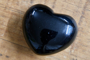 "Black Obsidian Heart (1.5"")"