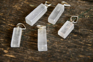 Selenite Cleansing Necklace Pendant