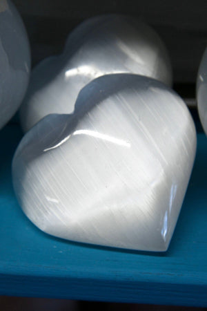Orange Selenite Heart