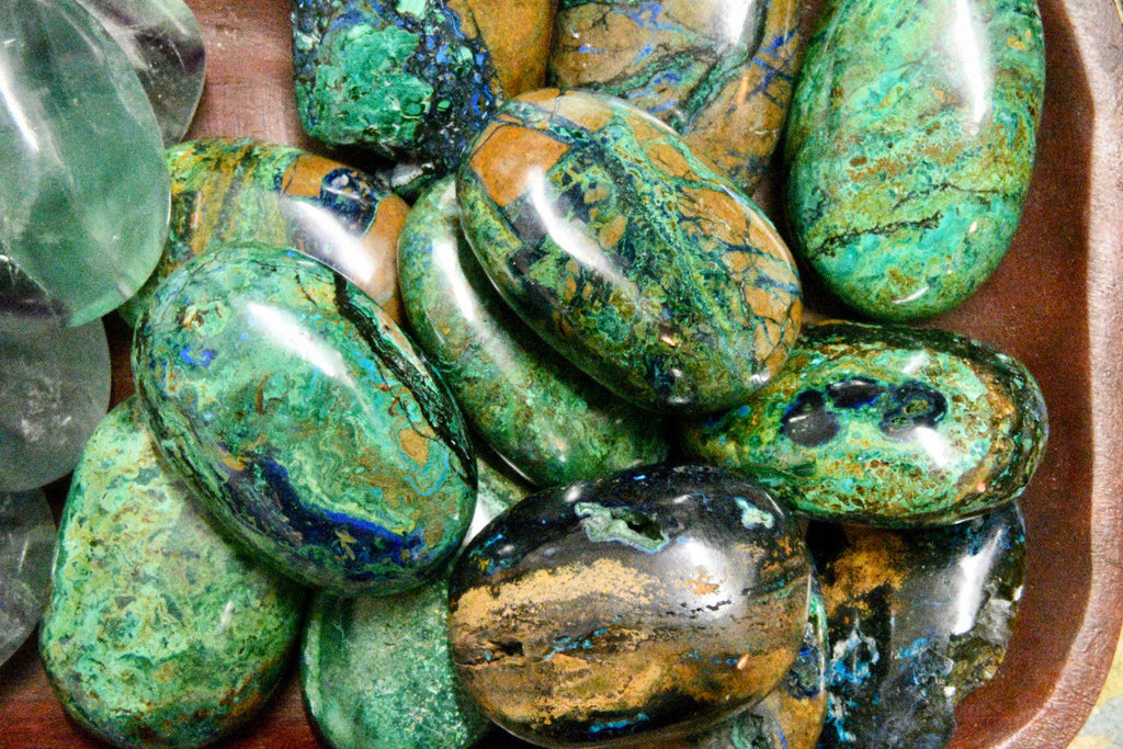 Azurite Malachite Palm Stone