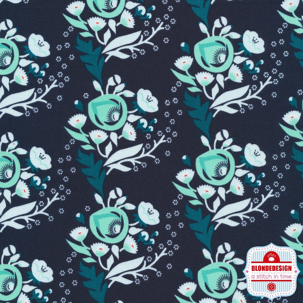 Poppy in Turquoise by Aneela Hoey for Cloud9