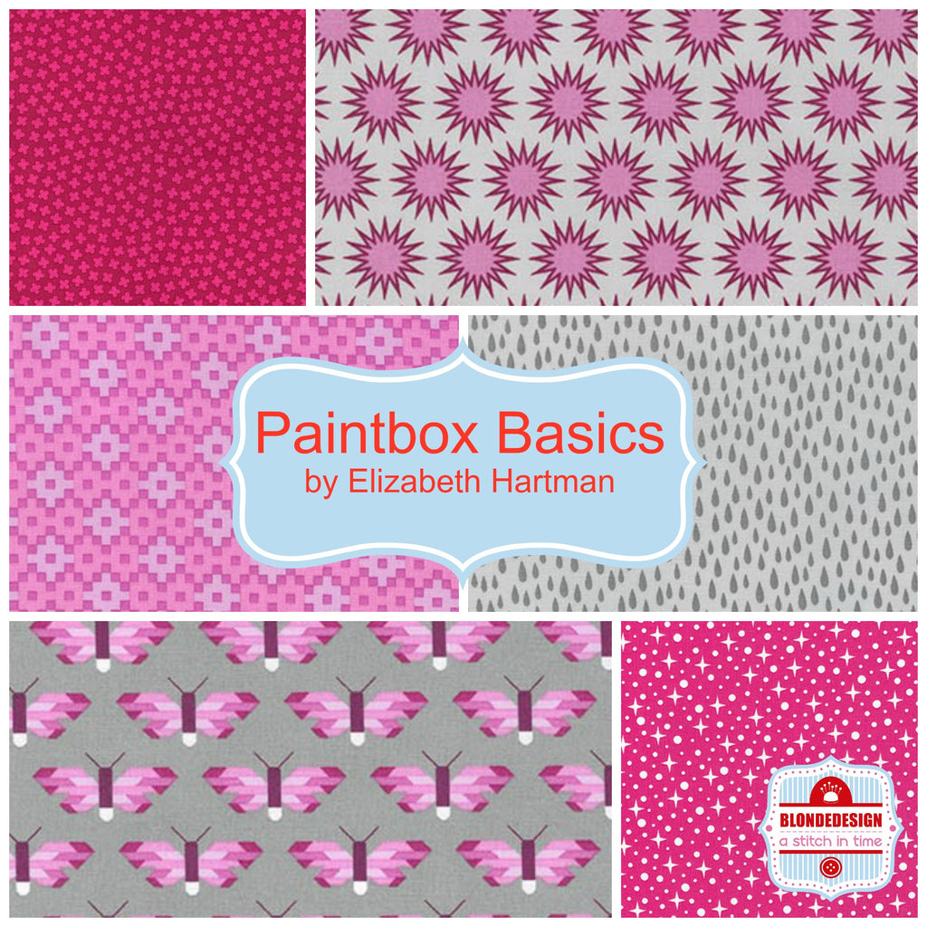 Paintbox Basics Pinks by Elizabeth Hartman for Robert Kaufman x 6