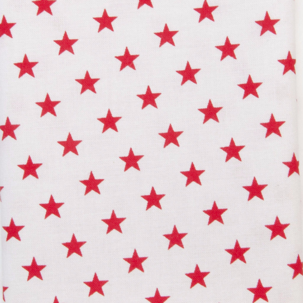 Iron-On Fusible Fabric - RedStars