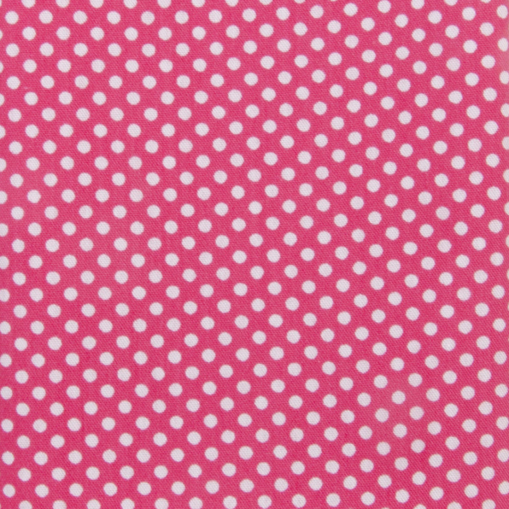 Iron-On Fusible Fabric - Hot Pink Polka Dot