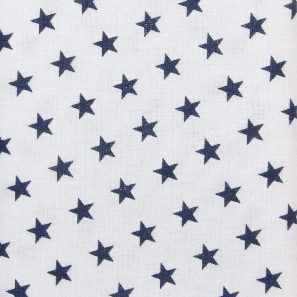 Iron-On Fusible Fabric - Navy Blue Stars
