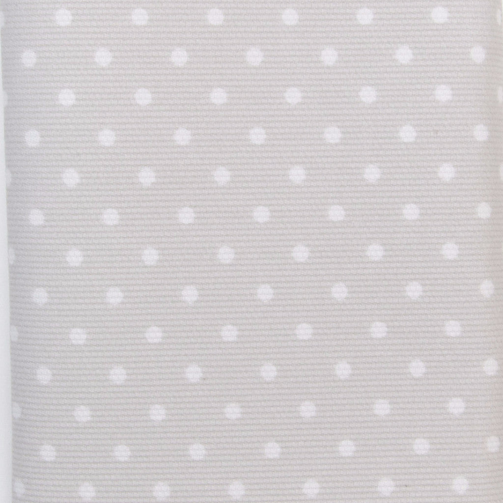 Iron-On Fusible Fabric - Grey Polka Dot