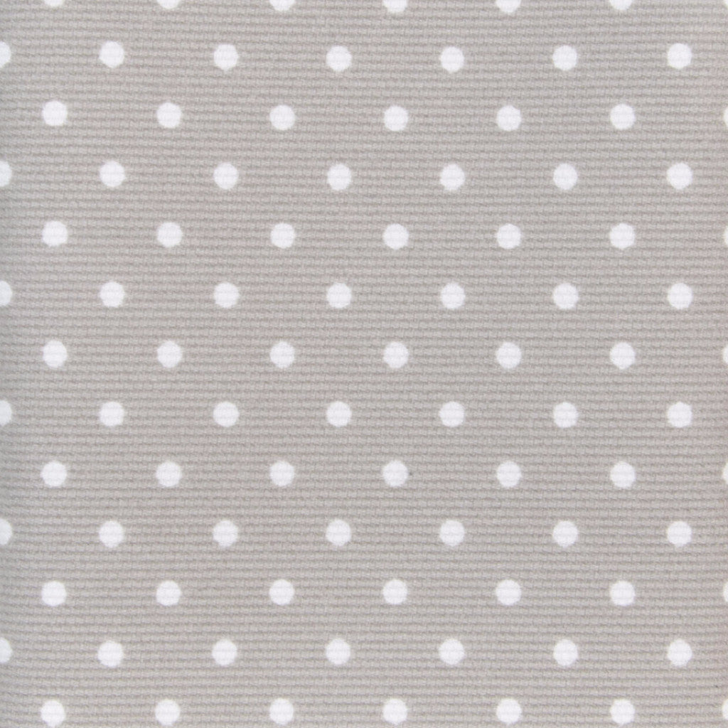 Iron-On Fusible Fabric - Beige Taupe Polka Dot
