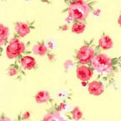 Rose & Hubble Cotton Poplin Large Floral in Lemon