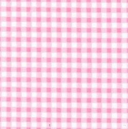 Rose & Hubble cotton poplin gingham check in pink