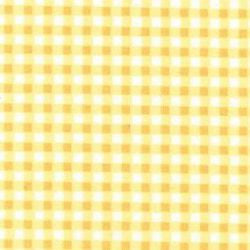 Rose & Hubble cotton poplin gingham check in lemon