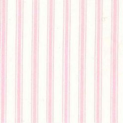 Rose & Hubble cotton poplin ticking stripe in pink