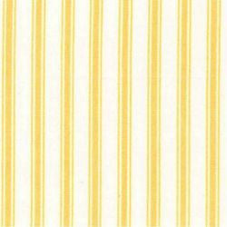 Rose & Hubble cotton poplin ticking stripe in Lemon
