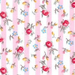 Rose & Hubble cotton poplin rose stripe