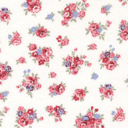 Rose & Hubble cotton poplin Small Floral in white