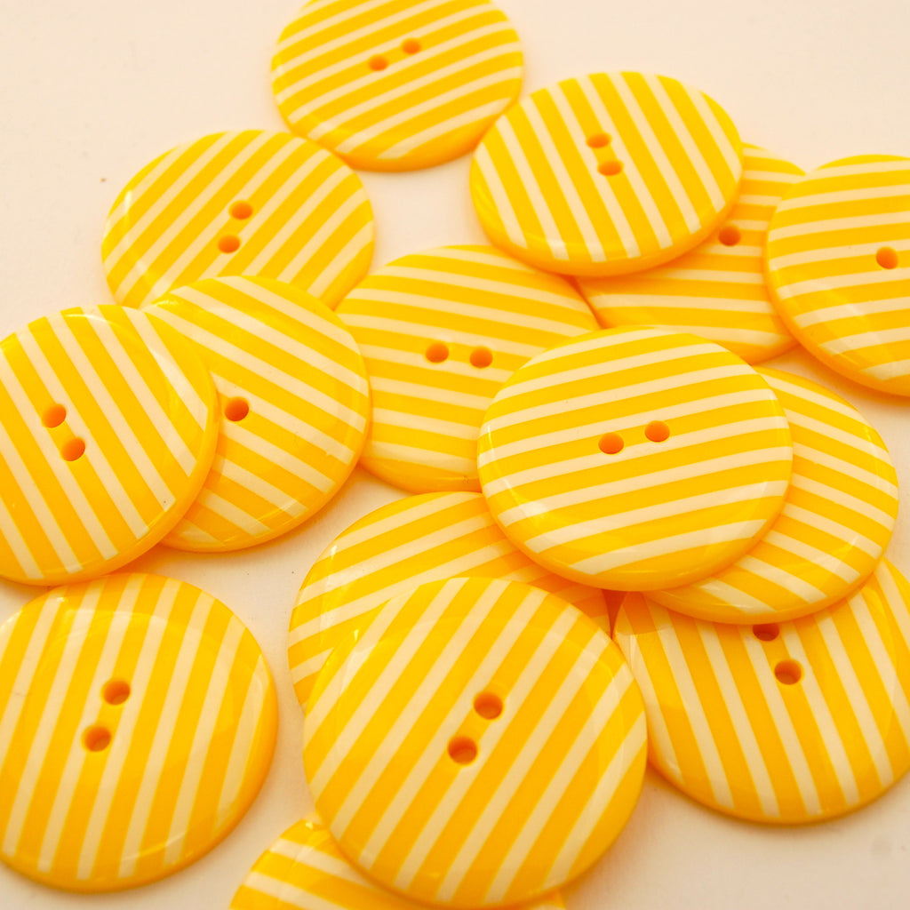 Big Yellow Stripy Buttons