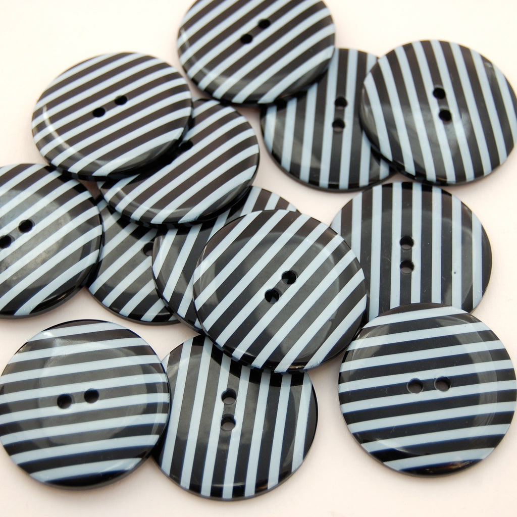 Big Black Stripy Buttons